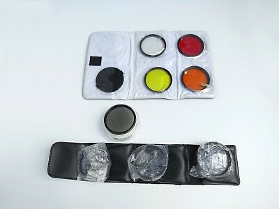 Lot 0f 5 62mm Camera Filters, Set of 3 Close Up Rings, and Lens Cap