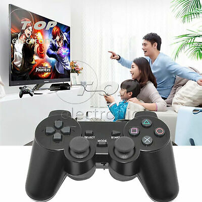 Wired 2.4G Wireless Dual Shock Controller for PS2 PlayStation Joypad Gamepad