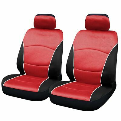 Red & Black Steering Wheel & Front Seat Cover set for Lexus IS200