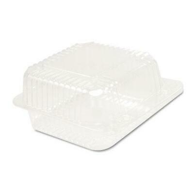 Dart Staylock Clear Hinged Container, Plastic 5 3-10x5 3-5x2 4-5 Clear 125-bg 4