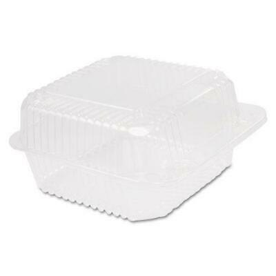 Dart Staylock Clear Hinged Container Square Deep Base, 6 1-10x6 1-2x3,125-pk 4 P
