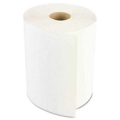 Boardwalk Hardwound Paper Towels, Nonperforated 1-Ply White, 350 Ft, 12 Rolls-ca