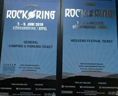 Rock Am Ring 2019 - Weekend Festival Ticket Und General Camping Ticket!