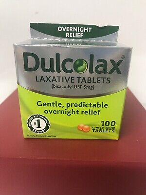 100 Tablets DULCOLAX Laxative comfort coated Tablets Bisacodyl USP 5mg APR 2019