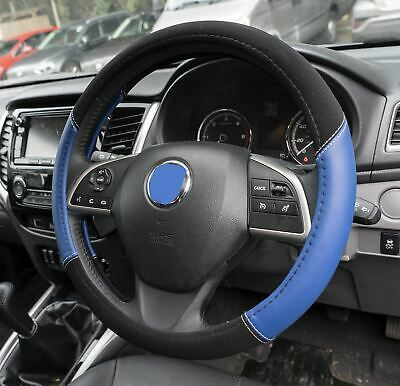 Blue & Black Steering Wheel & Front Seat Cover set for Peugeot 208 GTI 12-On