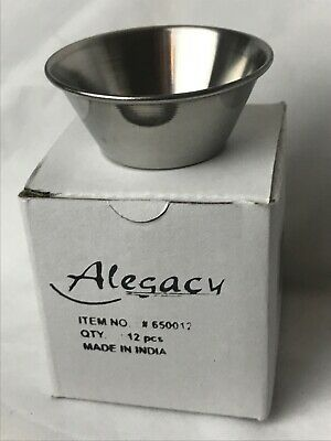 Ramekin Stainless Steel Sauce Cup TWO 12 Count Alegacy Restaurant Kitchen Sauce