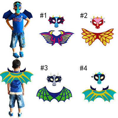 Cartoon Dinosaur Wings with Mask Props Costume Wings for Kids Performance WE