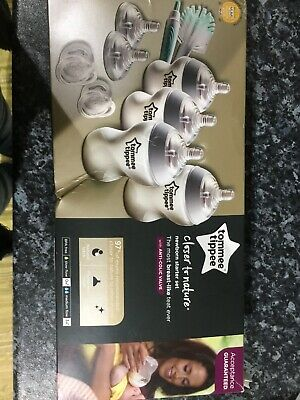Tommee Tippee Closer to Nature Newborn Starter Kit baby feeding bottles set 0m+