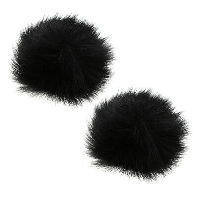 2 Pack Microphone Furry Windscreen Cover Windshield Muff Mic Parts 1.0cm
