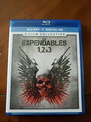 The Expendables 1,2 & 3 (3 Film Collection Blu-rays - LIKE NEW