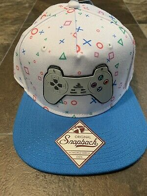 check out 1bb1a 52a55 Sony Playstation EST 1994 Logo WHITE Snapback Hat Cap Official PS1 Controller  PS