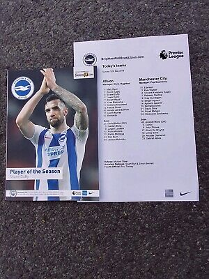 Brighton & Hove Albion vs Manchester City 12/05/2019 Programme and Teamsheet