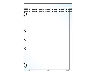 """Resealable Current Comic Bag Binder Page, Fits 10.5"""" x 7.25"""" Insert, Pack of 50"""