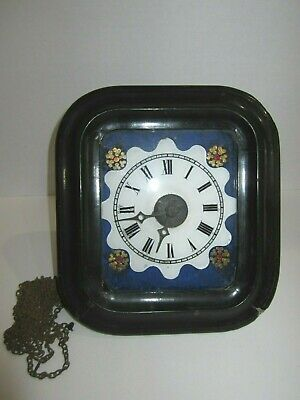 Antique Early Black Forest Weights Driven Wall Clock For Project/Parts