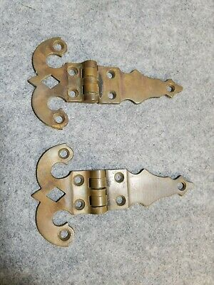 "Pair of 3 1/2"" X 6"" Heavy Solid Brass Door Hinge. Marked 363 on the back."