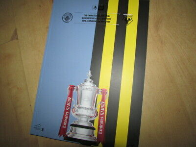 THE EMIRATES FA CUP FINAL MANCHESTER CITY v WATFORD 2019 OFFICIAL PROGRAMME