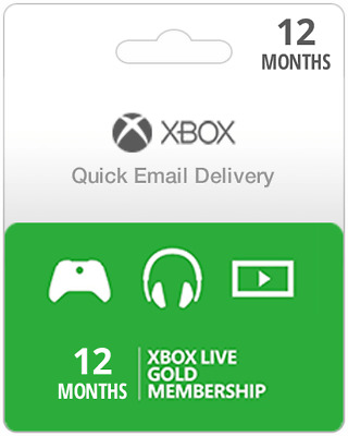 12 Month USA Xbox Live Gold Subscription