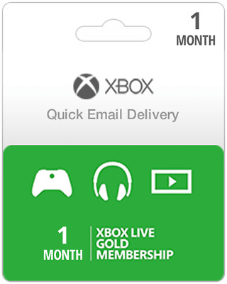 1 Month USA Xbox Live Gold Subscription