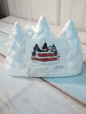 California Creations Merry Christmas Snowmen #94529 Trees Bear Ready to paint