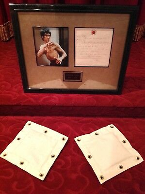BRUCE LEE - Rare Handwritten Signed Letter On His Stationery & His Punching Bags