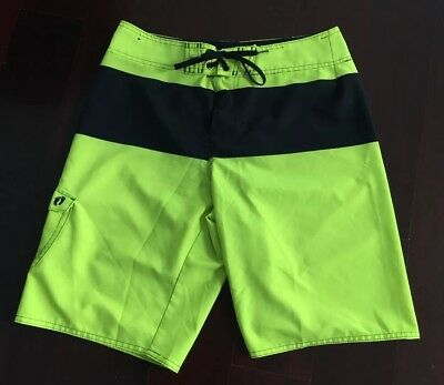f8c1be876a New Men's Neon Yellow Hang Ten 10 Super Stretch Surf Board Shorts Swim  Trunks 32