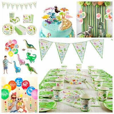 Kids Dinosaur Theme Baby shower Birthday Party Supplies Tableware Decor Boy Girl