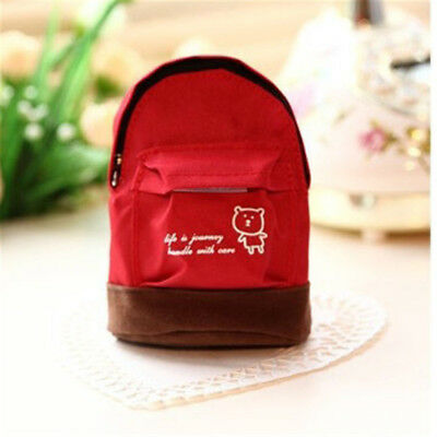 Portable Mini Backpack Satchel Oxford Cloth Coin Purse Zip Bag Wallet SW