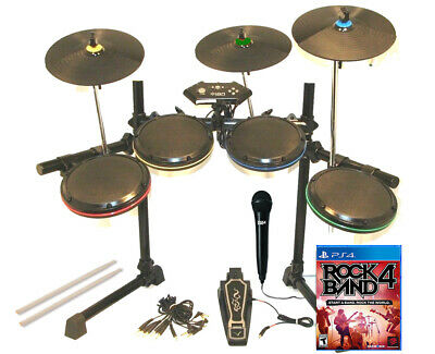 PS 4 ION Drum Rocker Pro-Set, Triple Pro-Cymbals, RB Mic, New Sticks, RB 4 Game