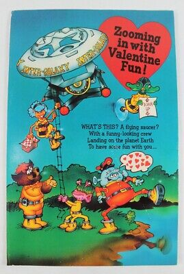 Valentine's Day Card INTER-GALAXY Pop-Out Aliens Space 1983 American Greetings