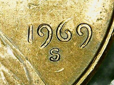 "Lincoln Cent 1969S Ddo-004 ""Date, Mintmark And Liberty"" -Double Die Obverse"