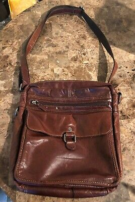 40203a1e0 JACK GEORGES VOYAGER Crossbody Organizer Brown Hand-Stained Buffalo ...