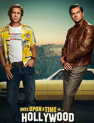 """Once Upon a Time in Hollywood (11"""" x 14"""") Movie Collector's  Print Pitt Dicaprio"""