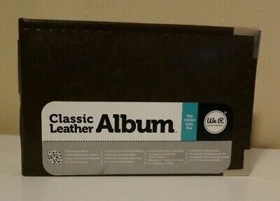 We R Memory Keepers Classic Leather - 6x4 inch Ring Album, Dark Chocolate