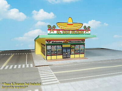 N Scale Building Mexican Restaurant -  PRE-CUT Card Stock (PAPER) Kit  MR1N