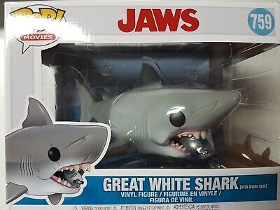 Funko Pop Jaws #759 Great White Shark with Diving Tank Figure Brand New