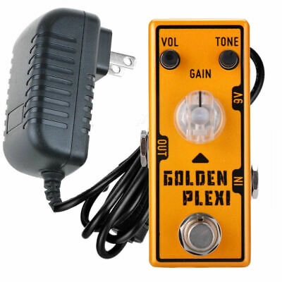Tone City Golden Plexi Distortion + Power Supply Guitar Effect Compact Pedal New
