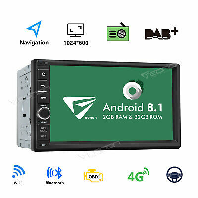 "US 7"" Android 8.1 Oreo Double 2Din In Dash Car GPS Navigation Stereo Radio OBD2"