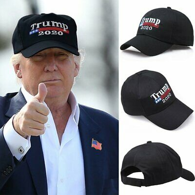 2020 Donald Trump Hat Make America Great Again Republican Black Cap Embroidered