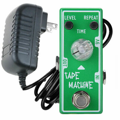 Tone City Tape Machine Delay + Power Supply Guitar Effect Compact Pedal New