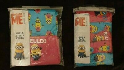 PRIMARK Girls DESPICABLE ME MINION MINIONS Undies Vest Top Briefs UK 3 -13 Yrs