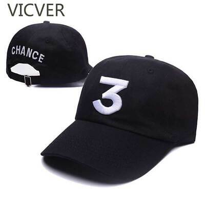 VICVER® Casual Embroidery Baseball Cap Chance 3 Dad Hat Hip Hop Snapback