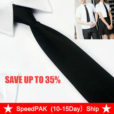 Men Black Clip On Tie Security Tie Doorman Steward Matte Funeral-Tie,UK New U8O6