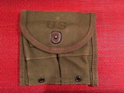 USGI Post WW2 Korean War US Military Army M1 Carbine Garand Rifle Magazine Pouch