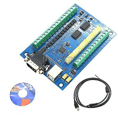 MACH3 CNC Motion Control Card 5 Axis Breakout Board 100KHz + USB Cable 12-24V