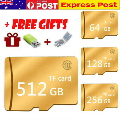 Micro SD Card 64GB 128GB 256GB 512GB Class 10 SDHC SDXC Memory Card with Reader