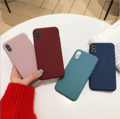 Case For Apple iPhone XS XR X 8 7 6S 6 Plus Luxury Ultra Slim Silicone Cover