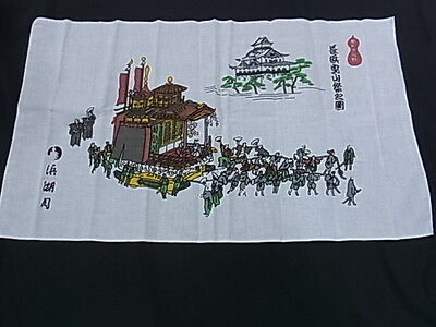 Japanese traditional towel TENUGUI COTTON    Castle festival MADE IN JAPAN