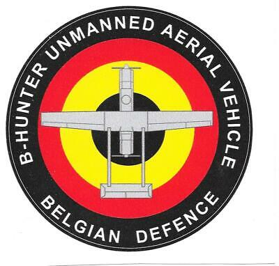 Stickers - Autocollants - B-Hunter Unmanned Aerial Vehicule - Belgian Defence