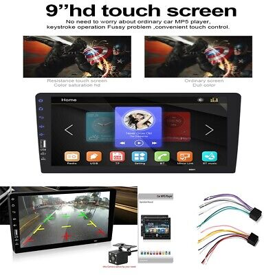 "Bluetooth 1 Din 9"" Car FM/USB/AUX MP5 Player Touch Screen Stereo Radio"