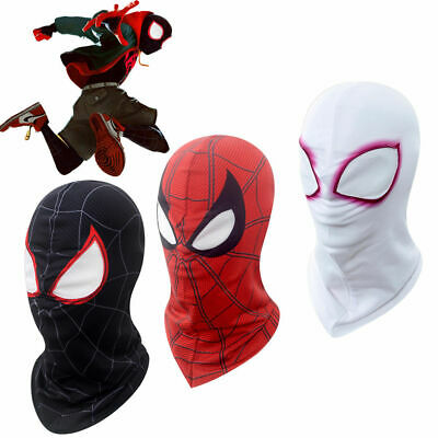 Movie Spider-Man Into the Spider-Verse Miles Morales Spider Gwen Cosplay Masks
